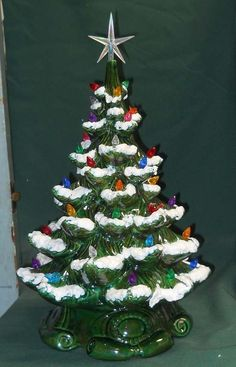 Assorted dollhouse ceramic trees non-electric MINI CHRISTMAS TREE PIN LIGHTS 25