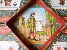 Antique Board Game French Game Jeu de Nain Jaune par sweetbrocante