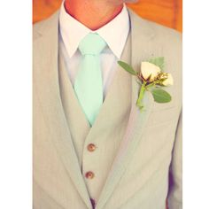 Tan suits and pastel ties