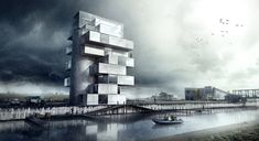 'BS25' Silos - Diving and Indoor Skydiving Center Proposal   Moko Architects