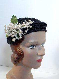 Fabulous Antique Vintage 20s Cloche Hat with by CharmedKitty, $125.95