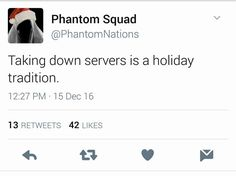 """Phantom Squad Takes Credit for Battlefield 1 Server Issues. """"Taking down servers is a holiday tradition"""""""