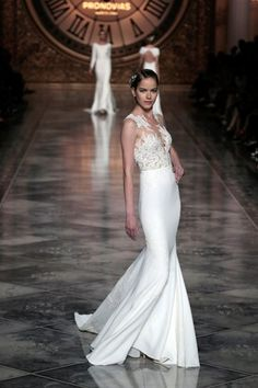 Find This Pin And More On The White One Irina Shayk Closes Pronovias In Sensational Wedding Dress