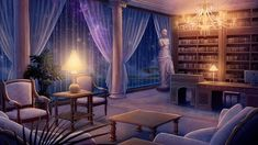 bedroom background backgrounds fantasy olympus night office created these artstation