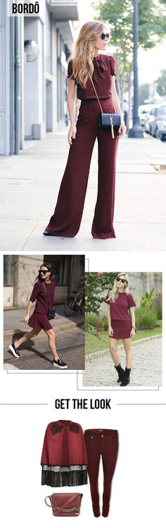 Como Usar: Looks Monocromáticos | One Color Outfit | Get the Look | Marsala, Bordô #moda #dicas #estilo #styling #look #outfit #color #blog #lnl #looknowlook