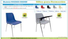 sillas para salas de formación, audiovisual, conferencias. Sillas de oficina.  #OfficeDeco
