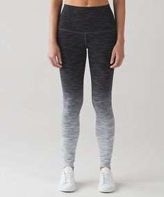 Lululemon ombre space dye wunder under pants - gorgeous monochrome legging look