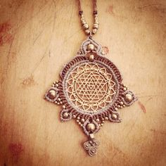 Hey, I found this really awesome Etsy listing at https://www.etsy.com/listing/226534561/flower-of-life-necklace-with-macrame-sri