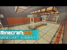 Minecart Subway with Cart Trains - Metro - Minecraft - YouTube