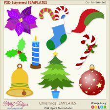Christmas Layered Templates 1 cudigitals.com cu commercial scrap scrapbook digital graphics#digitalscrapbooking #photoshop #digiscrap