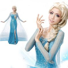 Hot Elsa Snow Queen Princess Cosplay Dress For Adult Women Elegant Cosplay Costume Fancy Dresses High Quality 2015 Free Shipping-in Clothing from Novelty & Special Use on Aliexpress.com | Alibaba Group