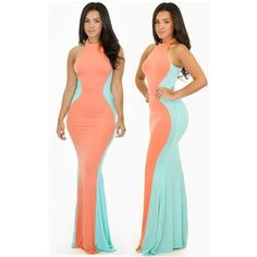 Cool Evening dresses Pink Green Maxi Evening Dress Sale LAVELIQ... Check more at http://24myshop.tk/my-desires/evening-dresses-pink-green-maxi-evening-dress-sale-laveliq/
