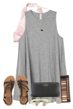 """""""you're my sun, my moon, and all my stars"""" by miss-noelle ❤ liked on Polyvore featuring Free People, RVCA, Billabong, Kendra Scott, Kate Spade, Urban Decay and Kenneth Jay Lane"""