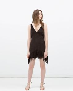 ZARA - ITS DRESS UP TIME - FRINGED DRESS