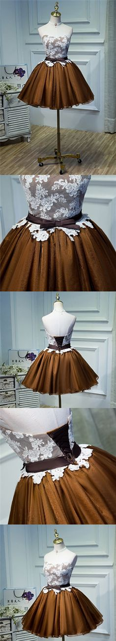 2017 Homecoming Dress Lace Bowknot Short Prom Dress Party Dress JK096