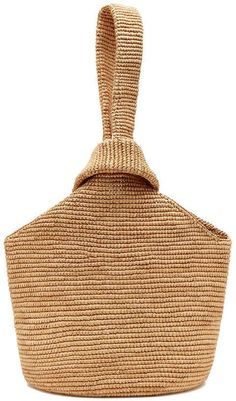 Sensi Studio Pull-Through Straw Tote Bag Japanese Knot Bag, Crochet Purses, Crochet Bags, Pull Through, Straw Tote, Boho Bags, Patchwork Bags, Fashion Bags, Purses And Bags