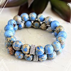 These are simple beautiful! Check out the newest addition to my beaded bracelet collection!