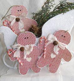 ginger bread men tags #Christmas