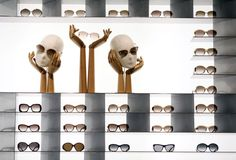 "Louis Vuitton sunglasses sit on display inside the company's new ""Etoile"" store, operated by LVMH Moet Hennessy Louis Vuitton SA, in a forme. Shoe Display, Display Design, Store Design, Glass Store, Eyewear Shop, Perfume Display, Clinic Design, Sunglasses Shop, Retail Design"