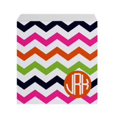 cP Stationery Monogram Sticky Note Cube Summer by conniptionPRINTS, $36.00