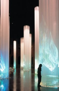 Teamlab S Digital Waterfall Projected On A Satellite