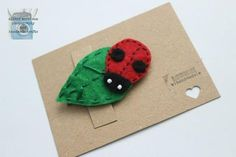 Ladybird on Leaf Felt Hair Accessory  £2.00