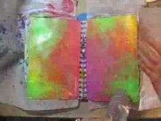 abstract - an art journal page