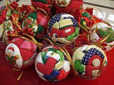 lindas bolas com tecido