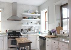 Bigger, Stronger, Kitchen Floating Shelves | Do It Yourself Home Projects from Ana White