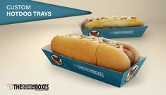 Get your packaging requirements sorted with ease at thecustompackagingboxes.com by browsing through the massive collection of custom printed hot dog tray boxes. These trendy and attractive custom printed hot dog tray boxes are ideal for packaging items and foods with efficacy and are very reliable in nature. No matter what designs you are looking for or what colors you prefer, these custom printed hot dog tray boxes are perfect for all your requirements.
