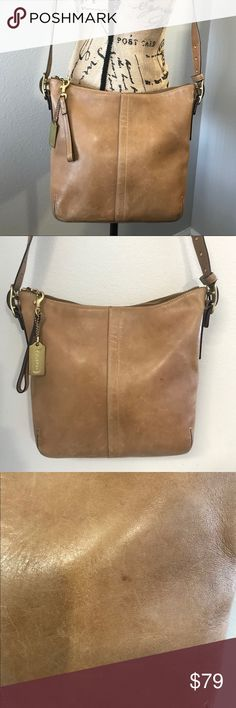 """COACH Vintage Leather Brown Slim SOHO Purse 9328 This purse is pre owned with some minor signs of wear. Some scratches adding to the distressed look. Spotless on the inside. Length- 10"""" Height 9.75"""" Depth 2.25"""" Strap drop adjustable up to 20"""" Vintage bag. Coach Bags Crossbody Bags"""