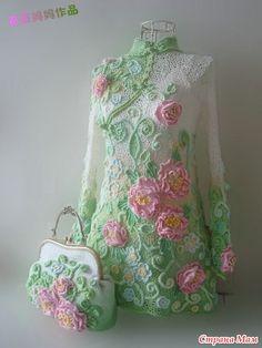 Crochet Skirts, Crochet Blouse, Crochet Clothes, Freeform Crochet, Crochet Lace, Free Crochet, Russian Crochet, Japanese Crochet, Irish Crochet Patterns