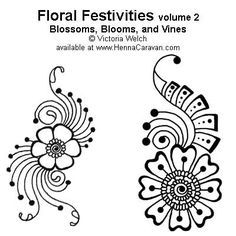 henna pattern floral - Google Search