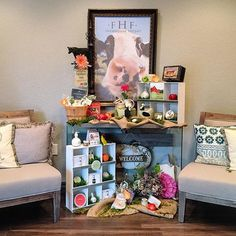 Our friends over at @ageless_allure have created a fabulous #FHF display and we just had to share with you all!  We can't think of a better way to wait for your spa treatment than to sample some FarmHouse Fresh products on those comfy chairs.... And the personal touches from the flowers, pillows to the farm animal decorations have us falling even more in love! Fantastic job, Ageless Allure! #beautiful #jobwelldone #FarmHouseFresh #displaylove #FarmHouseFab #oohlala #HappyTuesday #Tuesday