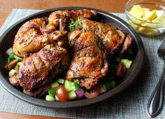 Food Wishes Video Recipes: Grilled Greek Chicken – Happy St. Patrick's Day! Vinegar Chicken Marinade, Grilled Chicken Fajitas, Chicken Marinades, Marinated Chicken, Chicken Recipes, Turkey Recipes, Food Wishes, Most Delicious Recipe, Thighs