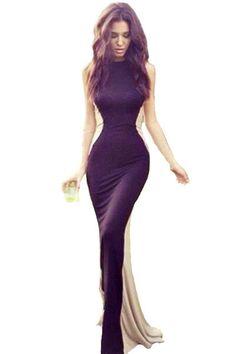 713e8669a7a Дешевое Новый 2015 элегантный платье с длинным ну вечеринку мяч черный кот  лоскутная рукавов выпускного вечера