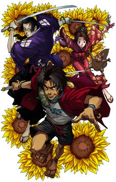 Tags: Anime, Samurai Champloo: Mugen, Kasumi Fuu and Jin Manga Anime, Manga Art, Anime Art, Samurai Anime, Samurai Art, Afro Samurai, Awesome Anime, Anime Love, Theme Anime