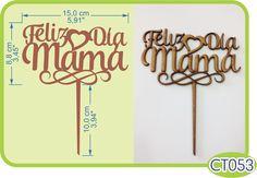 Deliz día Mamá Cake Topper. -Pedidos/InquirIes to: crearcjs@gmail.com