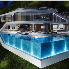 Confira alguns modelos de piscina de vidro - Revista Vidro Impresso