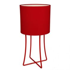 Fundi | Jasper Large Table Lamp in Red - Homeware - 5rooms.com Large Table Lamps, I Love Lamp, Jasper, Essentials, Hot, Home Decor, Decoration Home, Room Decor, Torrid