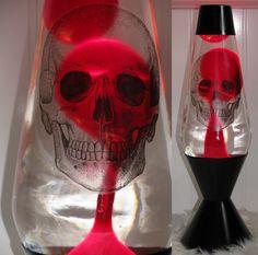 skull lava lamp