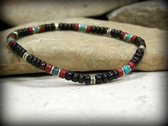 Mens pulsera pulsera Tribal nativos americanos por StoneWearDesigns
