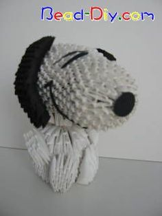 3D+Origami | 3D Origami Snoopy by bead-diy « Community « 3D Origami Art