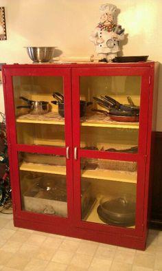 Repurposed vintage medical cabinet