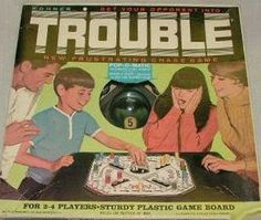 Childhood Memory Keeper: Retro Pop Culture from the 1960s, 1970s and 1980s: Trouble Board Game