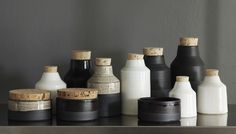 black and white collection.jpg Vitriolic studio pottery.  One of my favorite potters.  I am lucky to own several,pieces.