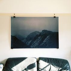 Sandias from the West, 2013. Photographer: Nicolette Johnson. Photo: South West Supply Co. // worn leather; picture rail