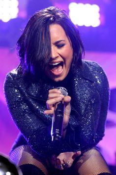 Demi Lovato performing at KDWB 101.3's Jingle Ball - December 7th
