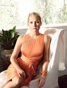 Kate Hudson for Ann Taylor. Pretty in Peach.