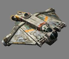 Close up on Ghost Ship from Star Wars Rebels